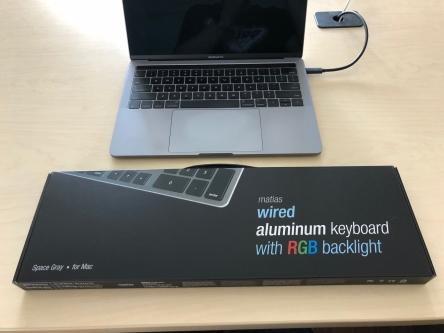 matias rgb backlit wired aluminum keyboard for mac bale 39 s apple. Black Bedroom Furniture Sets. Home Design Ideas